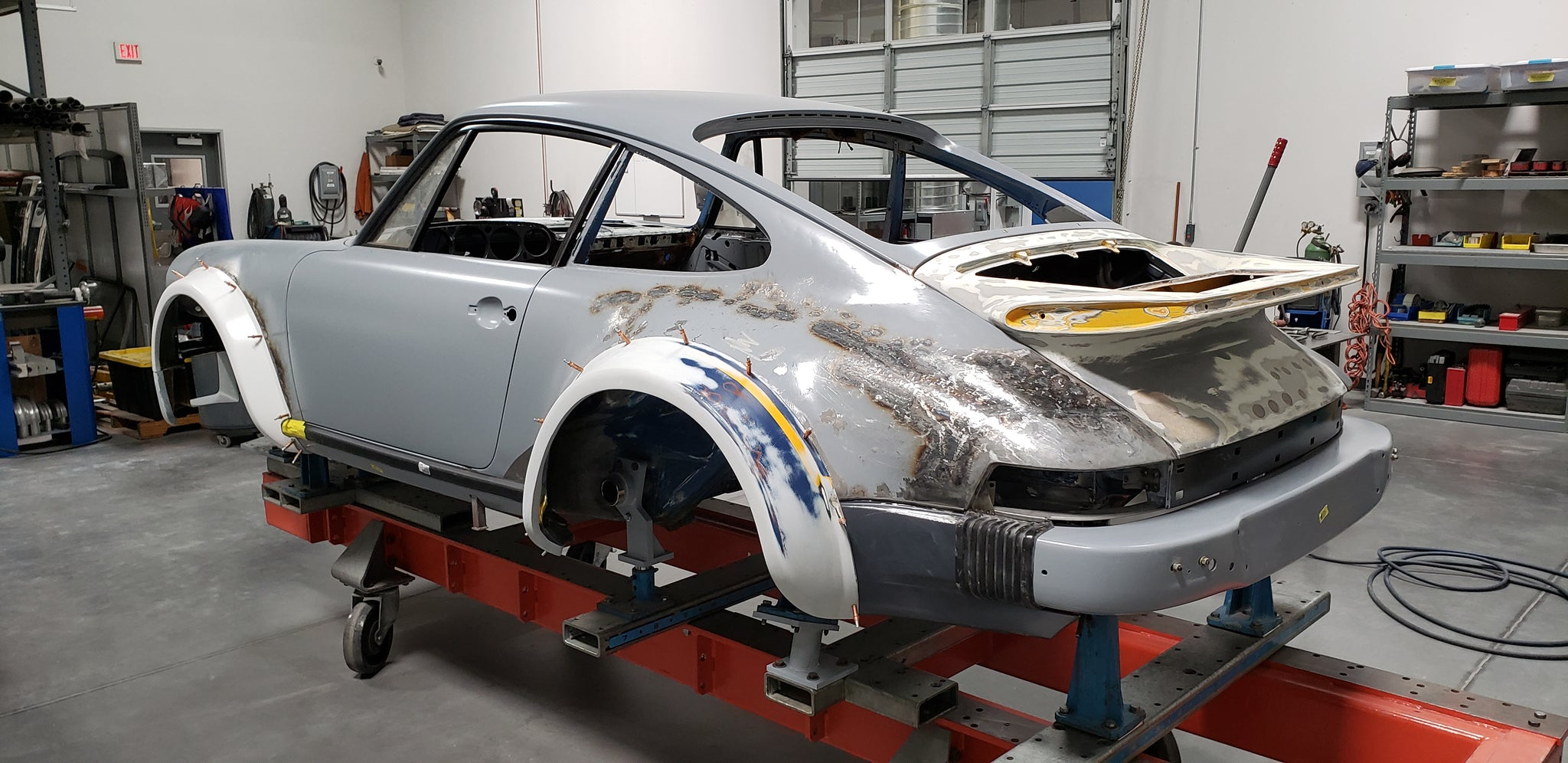 Porsche 934 restoration rear view