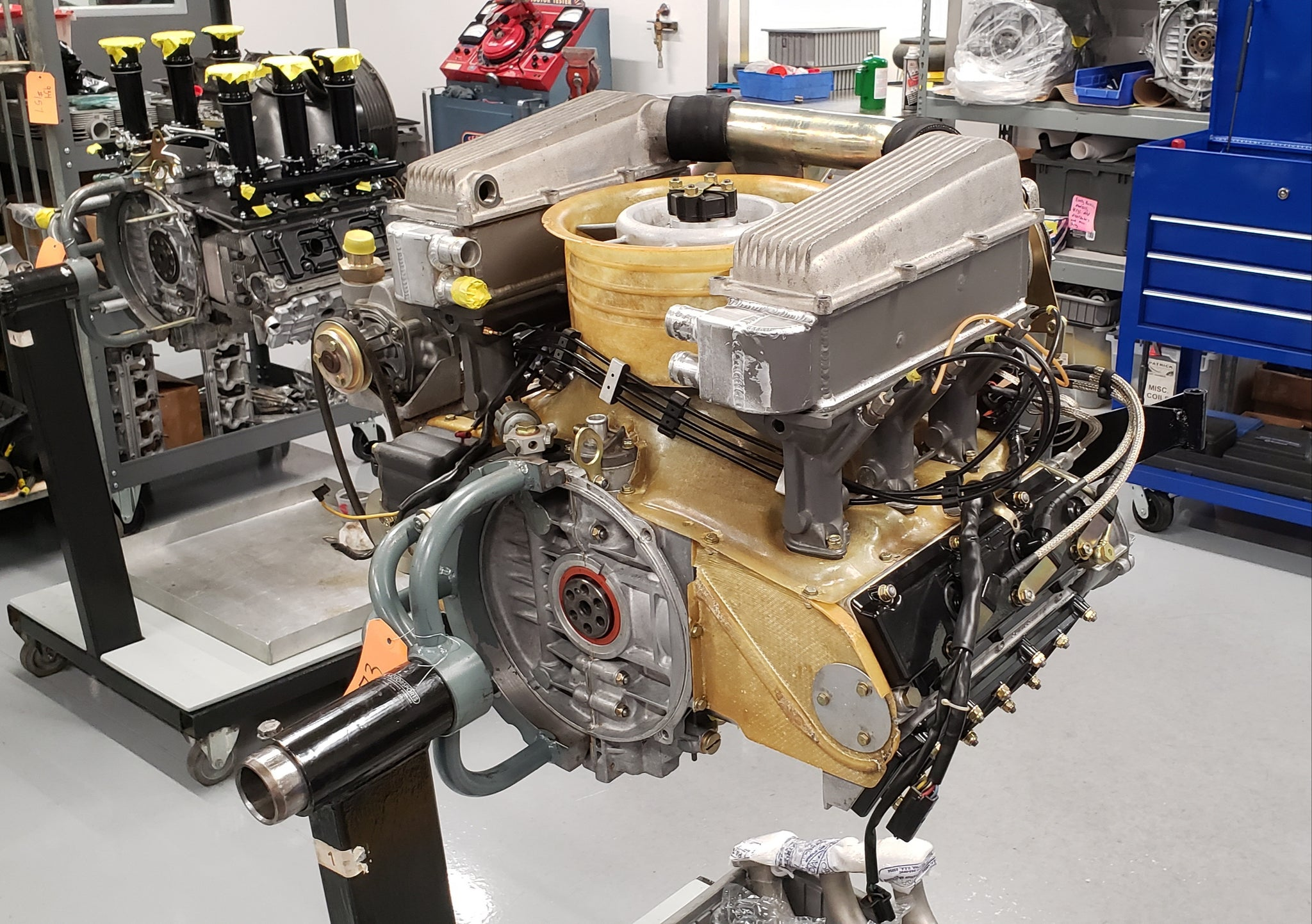 Porsche 934 restoration engine rear
