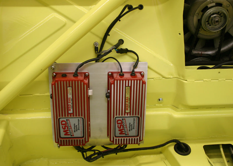 914-6 GT Twin plug dual MSD CD units mounted in cabin with shielded harness