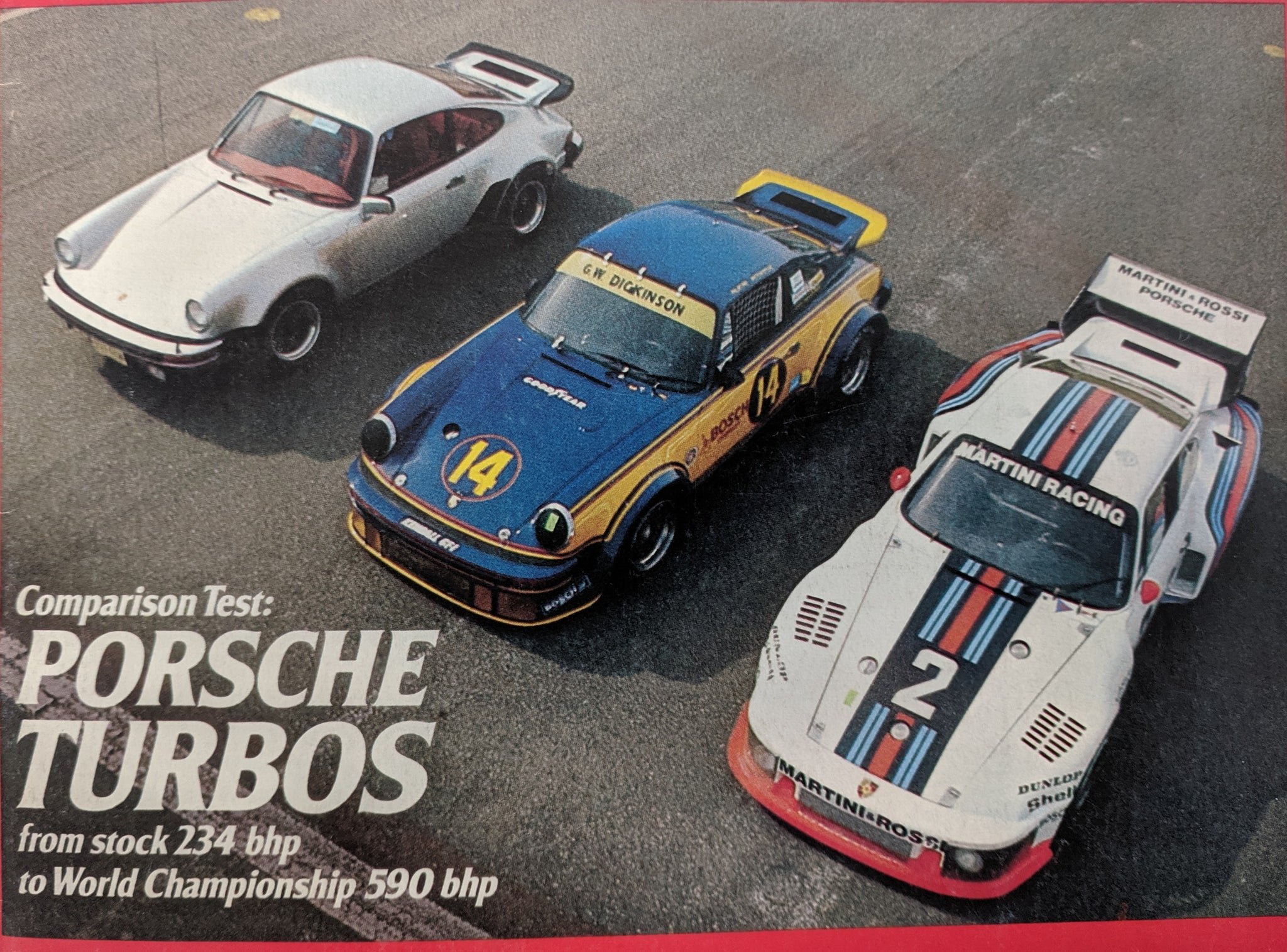Porsche 934 Road and track front cover