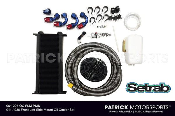 Porsche 911 / 930 Front Left Side Mount Oil Cooler Kit (OIL 911 207 OC FLM PMS)