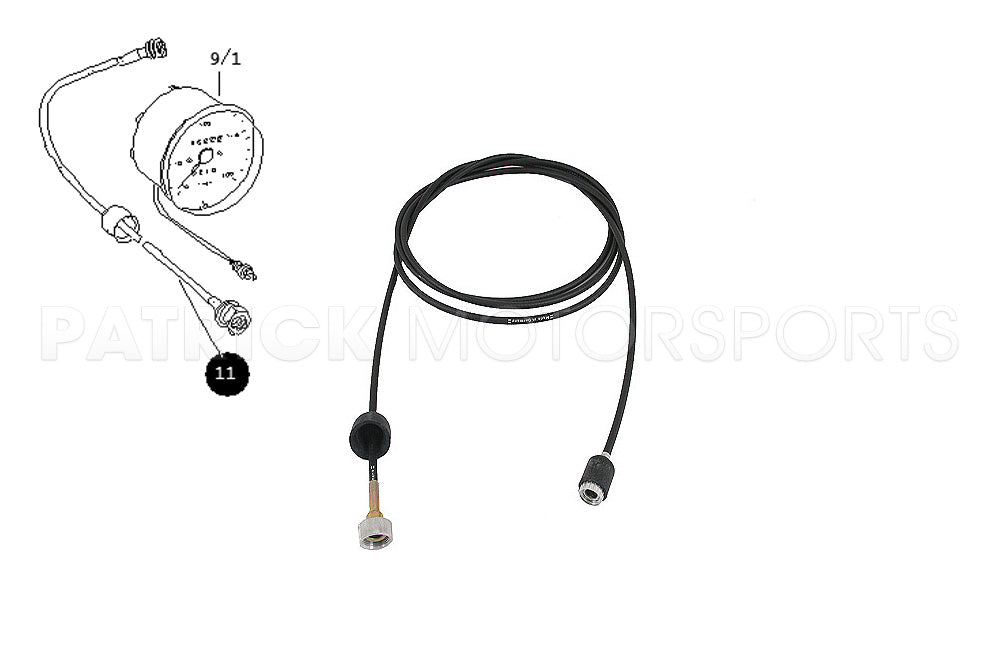 ELE 914 641 111 00 GEM: 914 INSTRUMENTS SPEEDOMETER DRIVE SHAFT CABLE