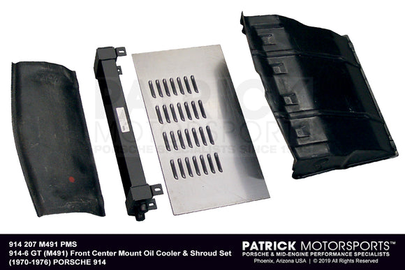 914-6 GT (M491) FRONT CENTER MOUNT OIL COOLER & SHROUD SET- OIL914207M491PMS