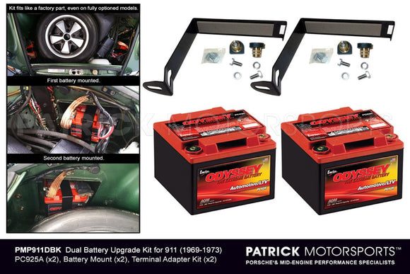 ODYSSEY DUAL BATTERY UPGRADE KIT FOR PORSCHE 911 (1969-1973)- PMP911DBK