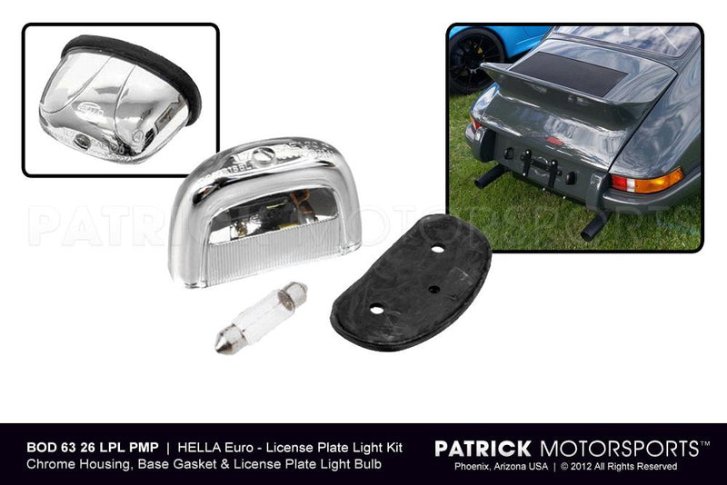 LICENSE PLATE LIGHT KIT - RETRO EURO STYLE HELLA- BOD6326LPLPMS