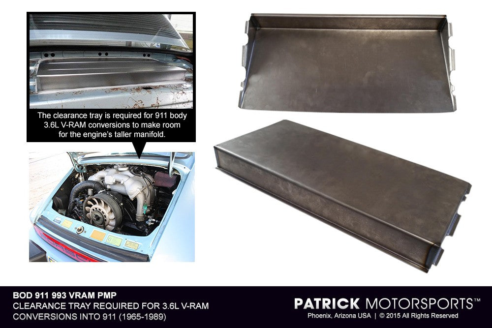BOD 911 993 VRAM PMP: 911 3.6L V-RAM CONVERSION CLEARANCE TRAY