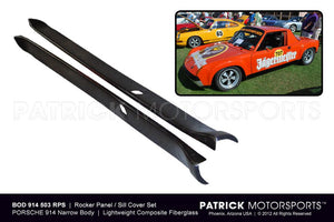 BOD 914 503 RPS GT: 914-6 GT BODY ROCKER PANEL SET / SILL COVER SET - 914 6 GT FLARED WIDE BODY 7&9 INCH Patrick Motorsports Exclusive