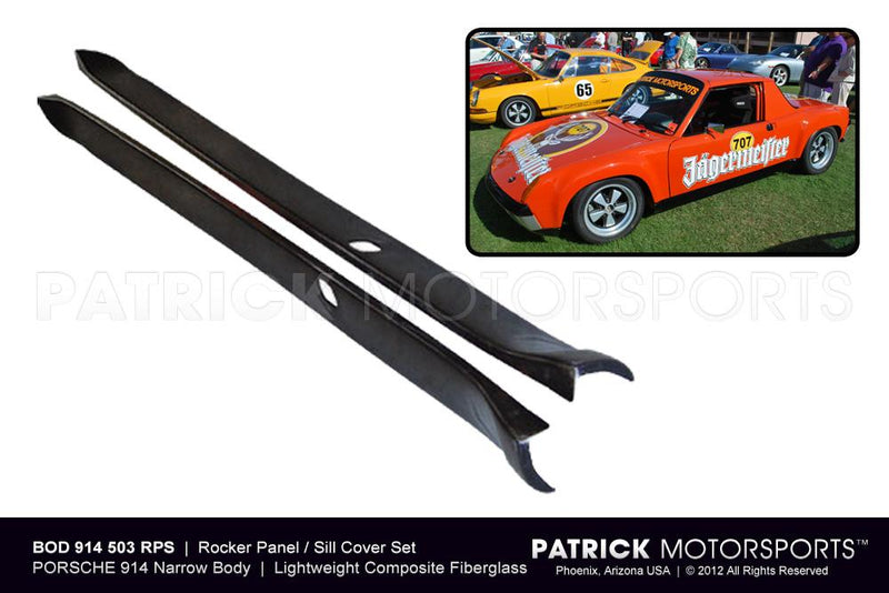 914-6 GT BODY ROCKER PANEL SET / SILL COVER SET - 914 6 GT FLARED WIDE BODY 7 & 9 INCH- BOD914503RPSGT