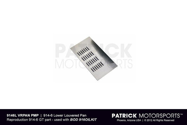 914 6 LOWER LOUVERED PAN - AIR DUCT- BOD9146LVRPANPMP