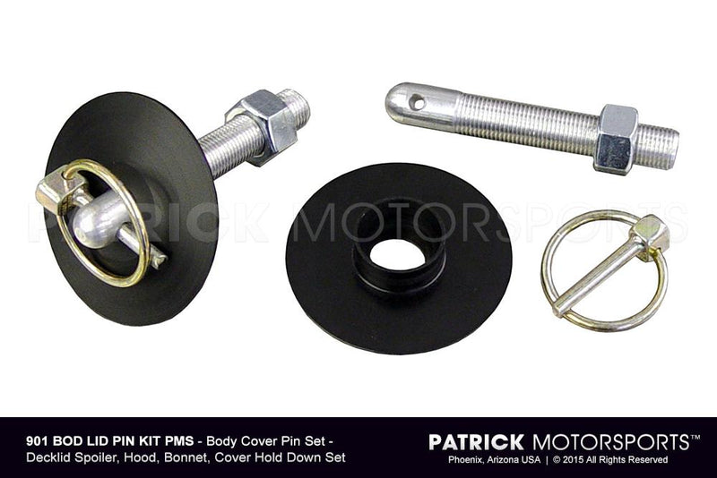 Hood Pin Set - Deck Lid, Hood, Bonnet, Hold Down BOD LID PIN KIT PMS / BOD LID PIN KIT PMS / BOD-LID-PIN-KIT-PMS / BOD.LID.PIN.KIT.PMS / BODLIDPINKITPMS