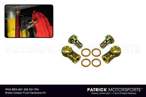 BRAKE CALIPER FLUID DELIVERY HARDWARE ADAPTER KIT- BRA901355531PM