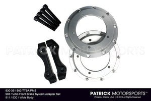 993 TURBO FRONT BRAKE SYSTEM ADAPTER SET PORSCHE 911 / 930 / WIDE BODY- 930351993TTBAPMS