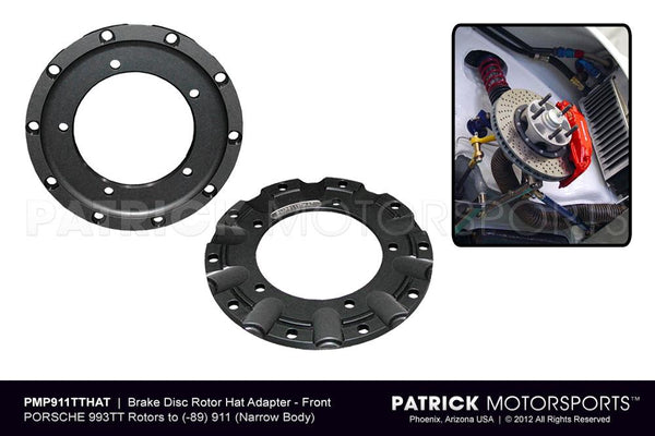 BRAKE ROTOR HAT ADAPTER SET- FRONT- BRA993351040911PMS