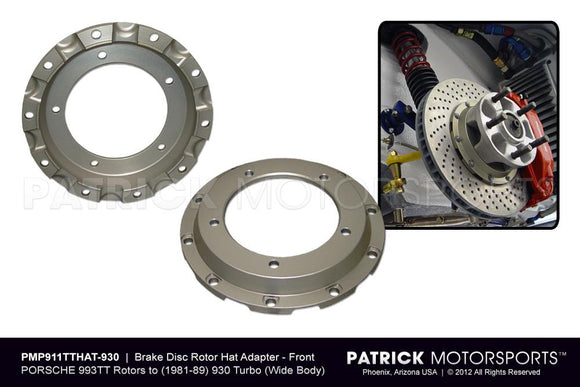 Porsche 930 Turbo Wide Body Front Brake Disc Hat Adapter Set BRA 993 351 040 930 PMS / BRA 993 351 040 930 PMS / BRA-993-351-040-930-PMS / BRA.993.351.040.930.PMS / BRA993351040930PMS