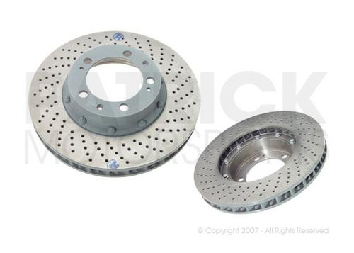 BRA 993 351 046 10 OES: BRAKE DISC ROTOR - FRONT RIGHT - 993 TURBO / CARRERA 4S / M491