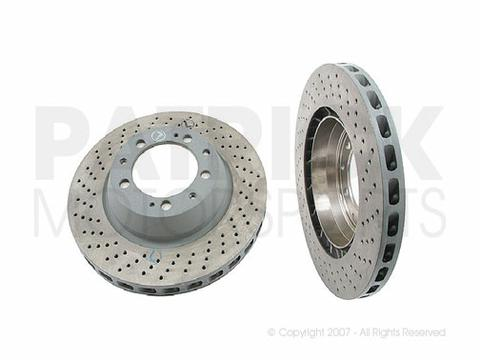 BRA 993 352 046 00 ZIM: BRAKE DISC ROTOR - REAR RIGHT - PORSCHE (1996-1998) 993 CARRERA 4 S / TURBO