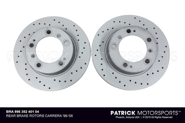 Porsche 996 Rear Brake Disc Set BRA 996 352 401 04 / BRA 996 352 401 04 / BRA-996-352-401-04 / BRA.996.352.401.04 / BRA99635240104