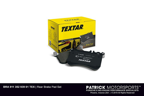 Early Porsche 911 / 912 / 914 / 356C SC Rear Brake Pad Set BRA 911 352 939 01 TEX / BRA 911 352 939 01 TEX / BRA-911-352-939-01-TEX / BRA.911.352.939.01.TEX / BRA91135293901TEX /  105540352 / 2000906