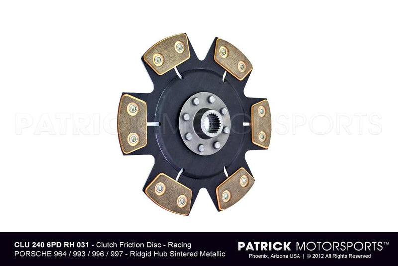 CLUTCH DISC - RACE (RIGID HUB) - RSR CUP- CLU2406PDRDH031