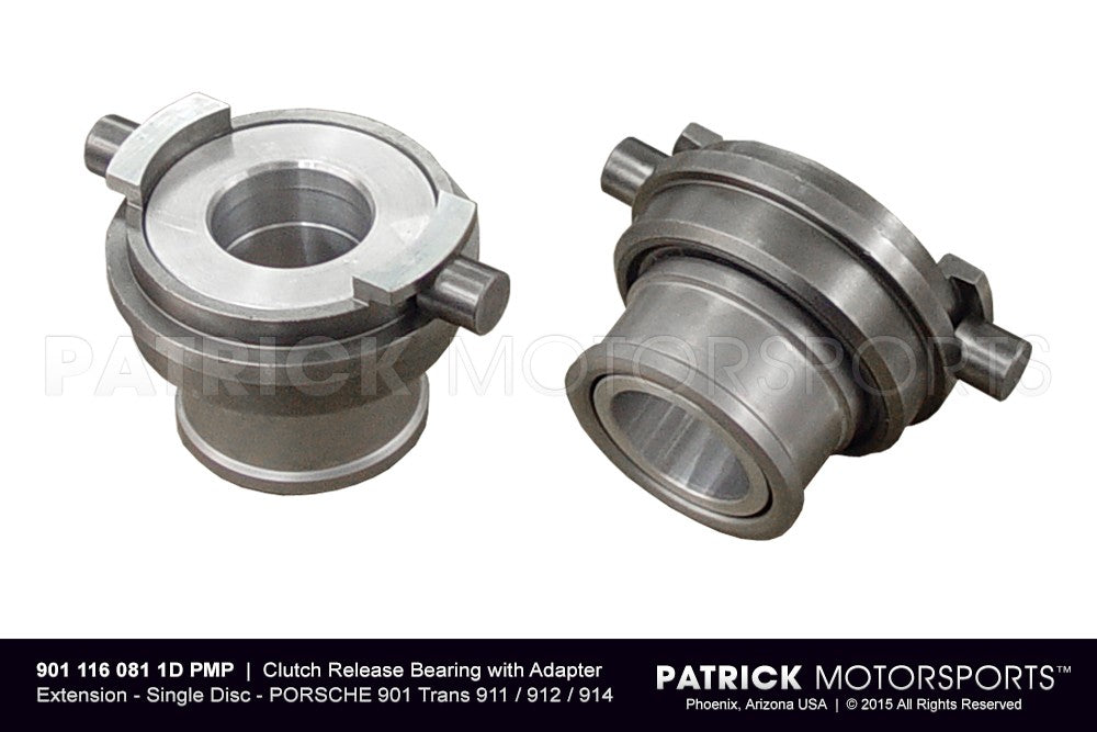 CLU 901 116 081 1D PMS: CLUTCH RELEASE BEARING WITH ADAPTER EXTENSION | QUARTER MASTER 5.50 INCH DIA. SINGLE DISC CLUTCH TO PORSCHE 901 TRANSAXLE / 911 / 912 / 914