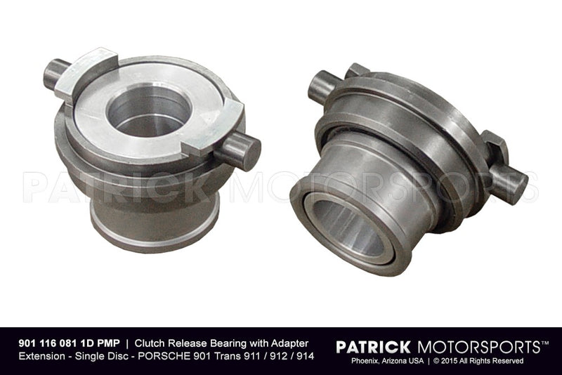 CLUTCH RELEASE BEARING WITH ADAPTER EXTENSION | QUARTER MASTER 5.50 INCH DIA. SINGLE DISC CLUTCH TO PORSCHE 901 TRANSAXLE / PORSCHE 911 / 912 / 914- CLU9011160811DPMS