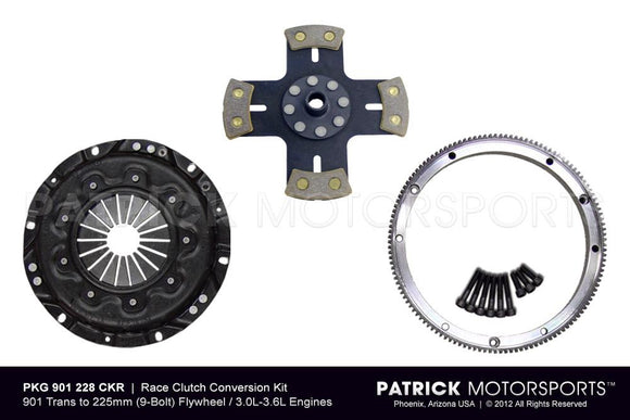 914 CLUTCH CONVERSION - PORSCHE 911 225MM FLYWHEEL TO 901 TRANSMISSION - RSR RACING- CLU901228CKRPMS