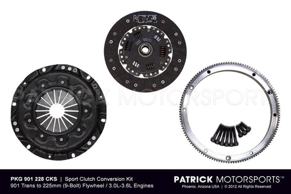 914 CLUTCH CONVERSION KIT FOR PORSCHE 911 225MM FLYWHEEL TO 901 TRANSMISSION - STREET- CLU901228CKSPMS