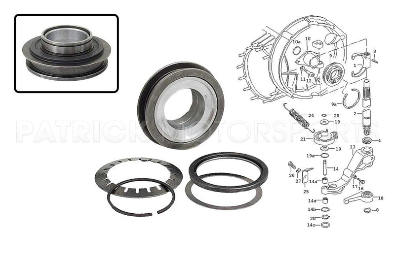 CLUTCH RELEASE BEARING - PORSCHE 911 - 915 -225MM- CLU91511608280SAC