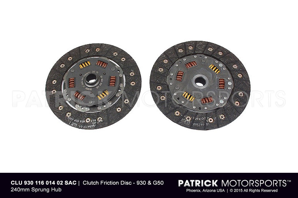 CLU 930 116 014 02 SAC: CLUTCH FRICTION DISC - 930 & G50 240MM SPRUNG HUB