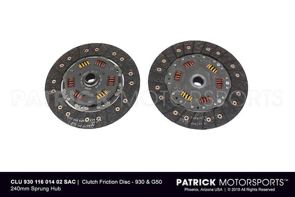 CLUTCH FRICTION DISC - 930 & G50 240MM SPRUNG HUB- CLU93011601402SAC
