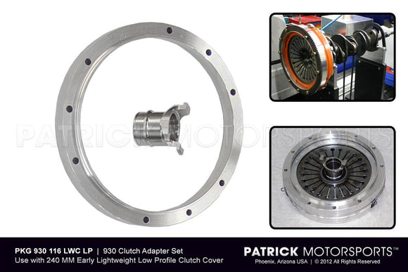 Porsche 930 Lightweight Clutch Adapter Set For Porsche 930 Turbo 4 Speed CLU 930 116 LWC PMS / CLU 930 116 LWC PMS / CLU-930-116-LWC-PMS / CLU.930.116.LWC.PMS / CLU930116LWCPMS