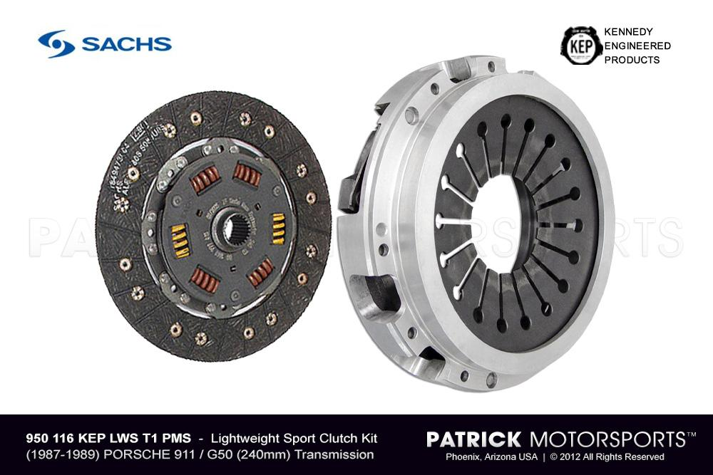 CLU 950 116 KEP LWS T1 PMS: 911 G50 SPORT CLUTCH SET - (1987-1989) PORSCHE 911 / G50-00/01/02 TRANSMISSION - TALL STAGE 1