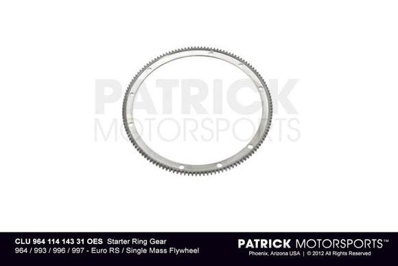 Starter Ring Gear - For Euro RS / Single-Mass Flywheel CLU 964 114 143 31 / CLU 964 114 143 31 / CLU-964-114-143-31 / CLU.964.114.143.31 / CLU96411414331
