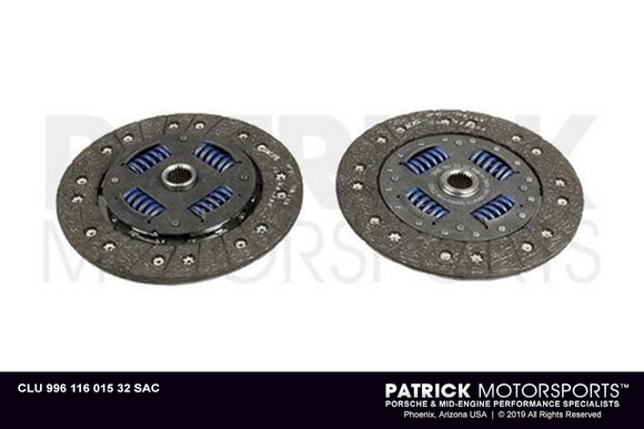 Clutch Friction Disc - 964 / 993 / 996 Turbo / 997 Turbo / Euro RS / GT3 / GT3 Rs - Clu99611601532Sac
