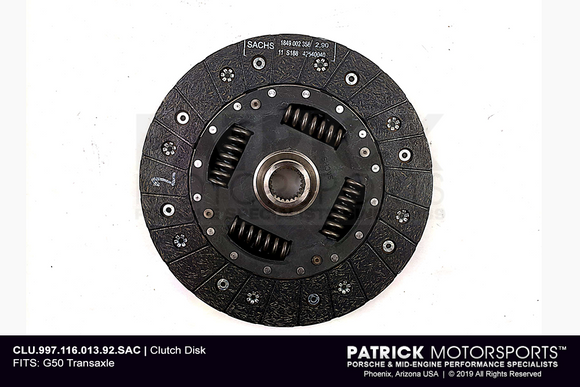 CLUTCH FRICTION DISC - 240MM - SPRING HUB - PORSCHE 997 GT2 RS (CLU 997 116 013 92 SAC)