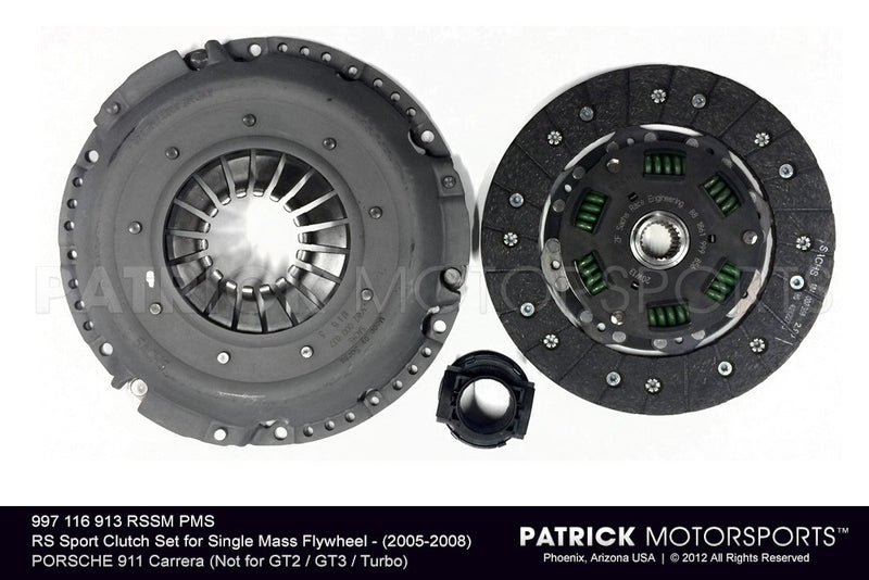 RS SPORT CLUTCH SET FOR SINGLE MASS FLYWHEEL - 2005-2008 PORSCHE 911 996 CARRERA- CLU997116913RSSMPMS