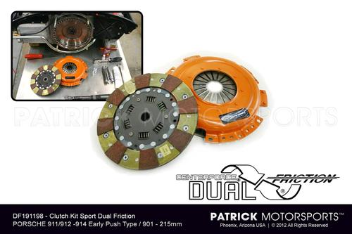 CLU DF 191198 : 911 / 914 / 901 CLUTCH KIT CENTERFORCE DUAL FRICTION