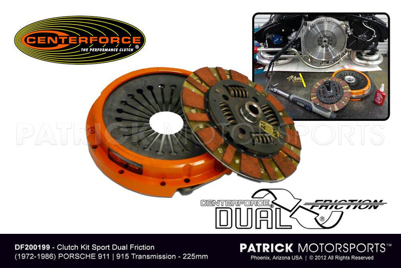 CLUTCH KIT PORSCHE 911 915 225MM CENTERFORCE DF 200199- CLUDF200199