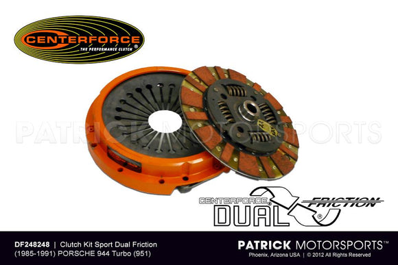 Centerforce Dual Friction Clutch Kit - 1985 - 1991 / Porsche 944 Turbo / 9442 951 / CLU DF248248 / CLU DF248248 / CLU-DF248248 / CLU.DF248248 / CLUDF248248
