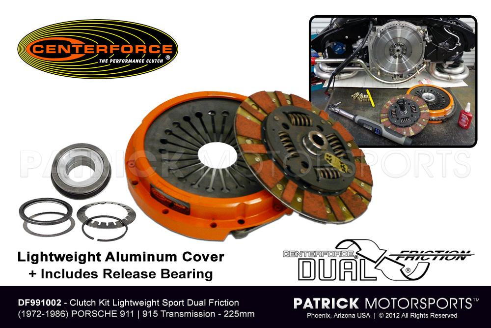 CLU DF991002: CLUTCH KIT 911 - 915 SPORT LIGHTWEIGHT ALUMINUM CENTERFORCE DUAL FRICTION
