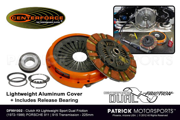 CLUTCH KIT PORSCHE 911 - 915 SPORT LIGHTWEIGHT ALUMINUM CENTERFORCE DUAL FRICTION- CLUDF991002