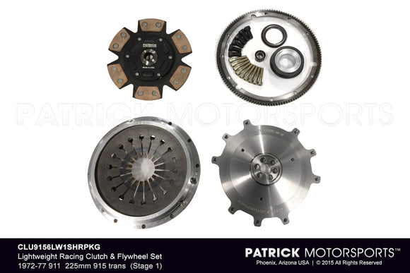 STAGE 1 LIGHTWEIGHT RACING CLUTCH & FLYWHEEL PACKAGE 1972-1977 911- CLU9156LW1SHRPKG