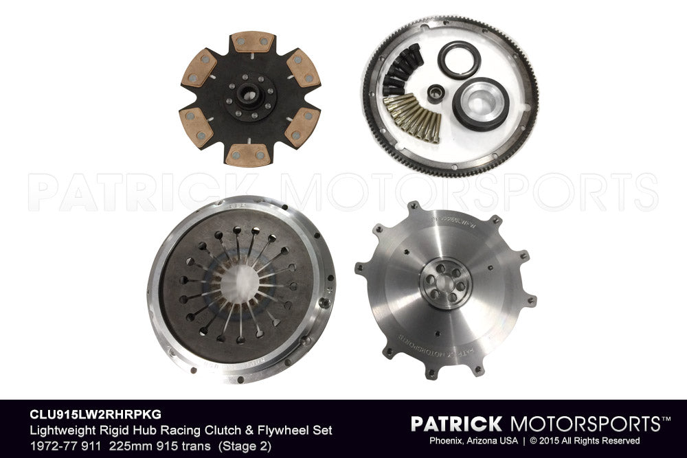 CLU 915 LW2RHR PKG: LIGHTWEIGHT RIGID HUB RACING (STAGE 2) CLUTCH & FLYWHEEL PKG 1972-1977 911