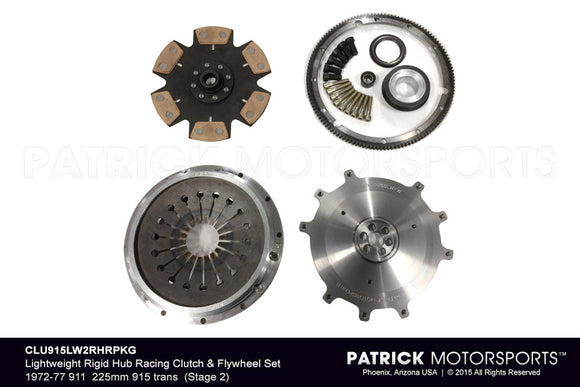LIGHTWEIGHT RIGID HUB RACING (STAGE 2) CLUTCH & FLYWHEEL PKG 1972-1977 911- CLU915LW2RHRPKG
