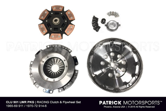 Porsche 911 / 914-6 901 Transmission Race Spec 215mm Flywheel and Clutch Package CLU 901 LWR PKG / CLU 901 LWR PKG / CLU-901-LWR-PKG / CLU.901.LWR.PKG / CLU901LWRPKG