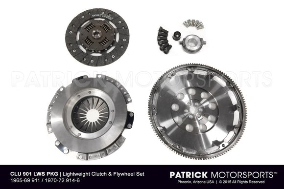Porsche 911 / 914-6 901 Transmission 215mm Lightweight Flywheel and Clutch Package CLU 901 LWS PKG / CLU 901 LWS PKG / CLU-901-LWS-PKG / CLU.901.LWS.PKG / CLU901LWSPKG
