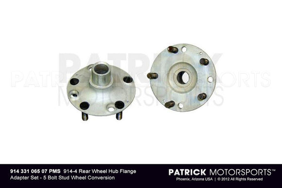 914-4 REAR WHEEL HUB FLANGE ADAPTER SET - 5 BOLT STUD WHEEL CONVERSION- DRI91433106507PMP