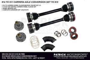 914 REAR CARRERA AXLE DRIVE SHAFT & 5 STUD WHEEL FLANGE CONVERSION SET TO (1970-1976) PORSCHE 914 WITH (1975-1985) 915 TRANSMISSIONS- DRI91433291191568PMS