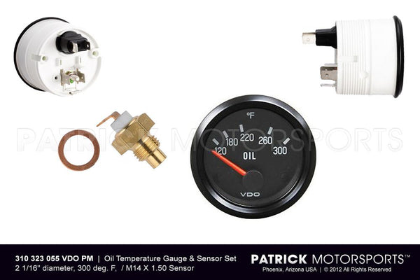 Oil Temperature Gauge and Sensor Set - Engine - Transmission M14X1.50 ELE 310 323 055 VDO PM / ELE 310 323 055 VDO PM / ELE-310-323-055-VDO-PM / ELE.310.323.055.VDO.PM / ELE310323055VDOPM