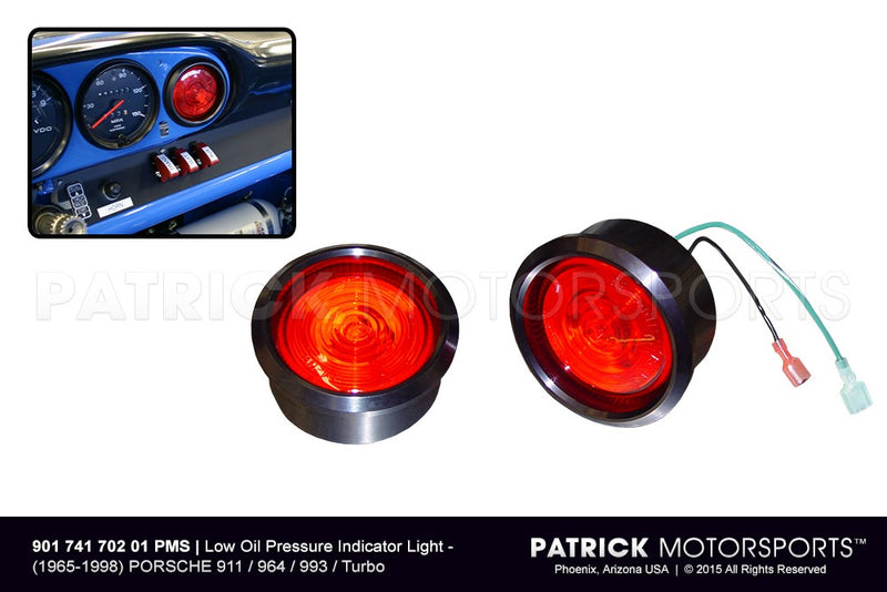 LOW PRESSURE OIL INDICATOR GAUGE WARNING LIGHT PORSCHE 911 / 912 / 914 / 930 / 964 / 993- ELE90174170201PMS